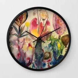 whimsical garden Wall Clock
