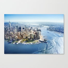 Aerial view of New York City Canvas Print