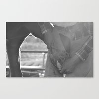 cowboy Canvas Prints featuring Cowboy by Jake Stanton
