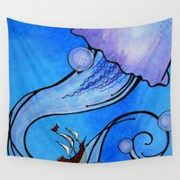 voyage Wall Tapestries featuring Voyage by CSNSArt