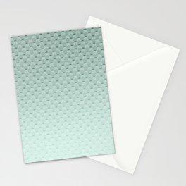 Geometric #turquoise #pattern #monochrome Stationery Cards