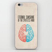 eternal sunshine of the spotless mind iPhone & iPod Skins featuring Eternal Sunshine of the Spotless Mind - Alternative Movie Poster by Anthony DeCarolis