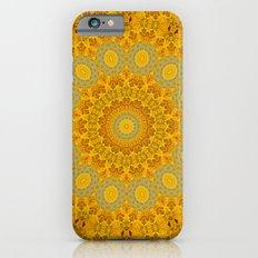 You Are My Sunshine II -- Sunflower Botanical Medallion, Mandala, Kaleidoscope Slim Case iPhone 6s