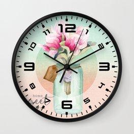 Magnolia #4 Wall Clock