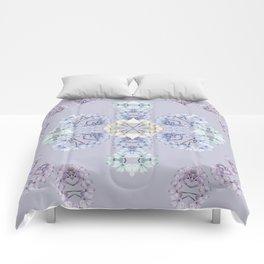 Pastel wildflowers Comforters