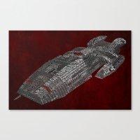 battlestar Canvas Prints featuring Battlestar Galactica Poster Art by Skahfee Studios