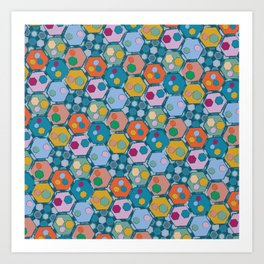 Mosaic (Hexagons) Art Print