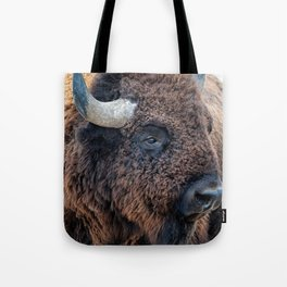 In The Presence Of Bison Tote Bag