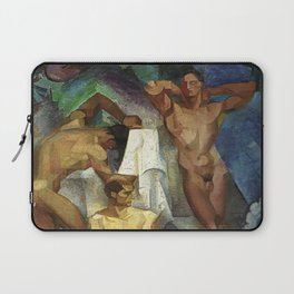 Young Bathers by George Pauli Nude Male Art Laptop Sleeve