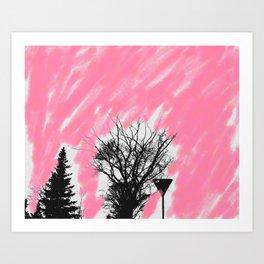 pink colouring Art Print