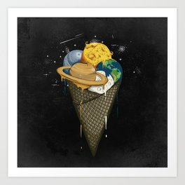 Galactic Ice Cream Art Print
