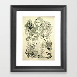 Inverted Mermaid Framed Art Print