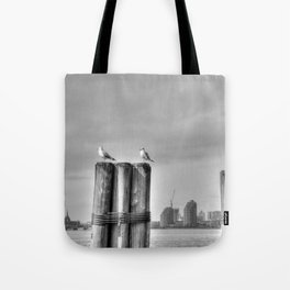 waiting the boat Tote Bag