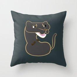 Neovison Mink Grey Throw Pillow