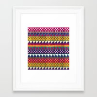 mexican Framed Art Prints featuring Mexican Pattern by Eleaxart