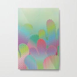 Colorful Summer Cacti Garden Metal Print