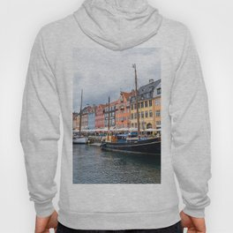 Nyhavn waterfront in Copenhagen Hoody