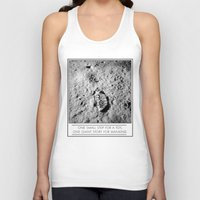toy story Tank Tops featuring One small step, toy story by Marchelord