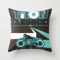 tron Throw Pillows featuring Tron Legacy by HomePosters