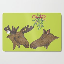 Moose Christmas Cutting Board