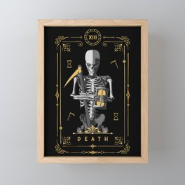 Death XIII Tarot Card Framed Mini Art Print