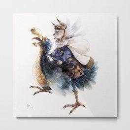 Captain and Dodo Bird Metal Print