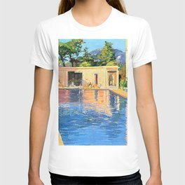 12,000pixel-500dpi - Sir John Lavery - A blue swimming pool at Cannes - Digital Remastered Edition T-shirt