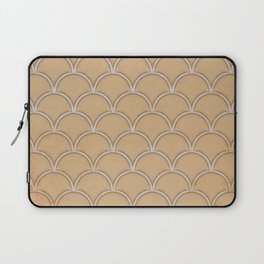 Abstract large scallops in iced coffee with texture Laptop Sleeve