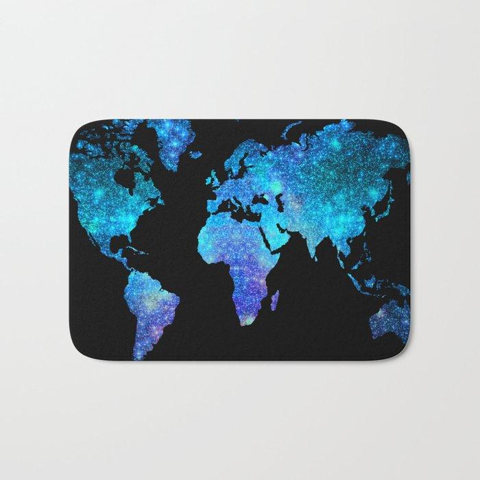 Space World map Bath Mat