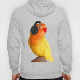 Bird Listening to Music in Outer Space Hoody