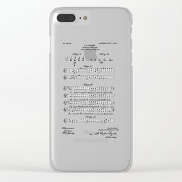 patent art Beswick Musical notation 1903 Clear iPhone Case