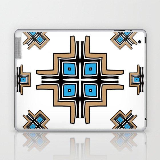 aztec cross mandala Laptop & iPad Skin