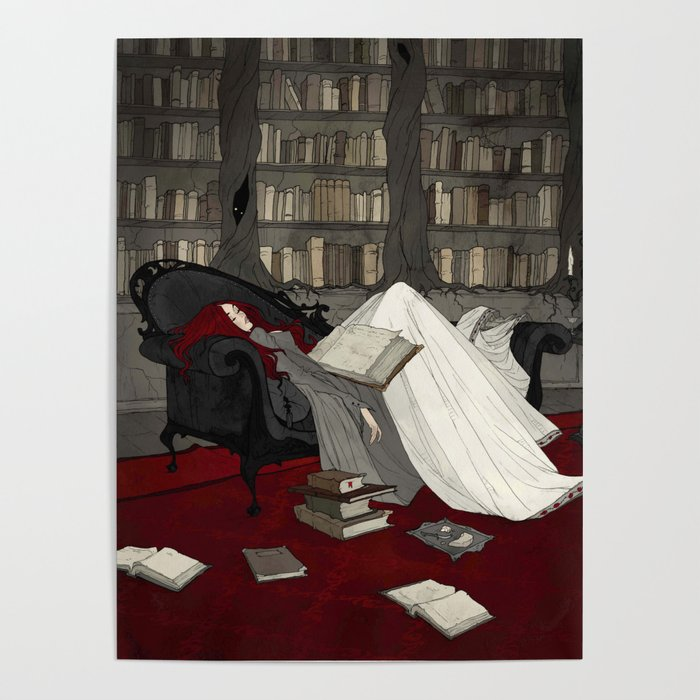 Asleep in the Library Poster