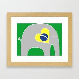 Brazilian Elephant Framed Art Print