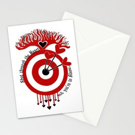 Shot through the Heart Stationery Cards