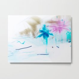 Preppy Beach Metal Print