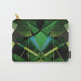 Greenery Digital Geometric Art Carry-All Pouch