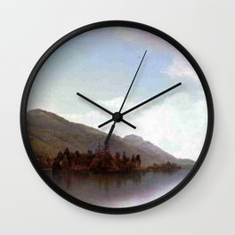 Buck Mountain Lake George 1872 By David Johnson | Reproduction | Romanticism Landscape Painter Wall Clock
