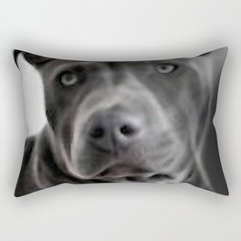 Pit Bull lover, a portrait of a beautiful Blue Nose Pit Bull Rectangular Pillow