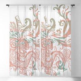 Xiuhcoatl Returns Sheer Curtain
