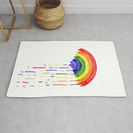 Love Rainbow Rain Rug