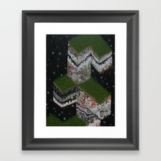 Lace Agate rok cube. Framed Art Print