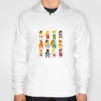 street fighter Hoodies featuring 8 Bit Street Fighter by thedoormouse