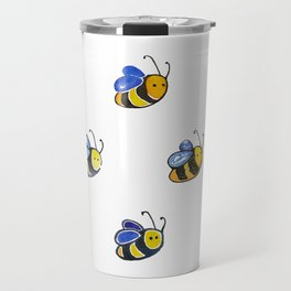 Cute little watercolor bees by annmariescreations Travel Mug
