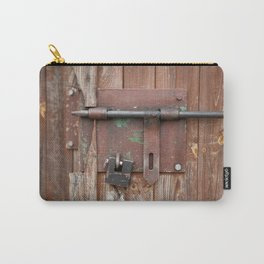 Iron sliding bolt unlocked and padlock Carry-All Pouch