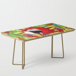 Macaw Parrot Paper Craft Digital Art Coffee Table