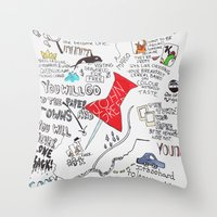 paper towns Throw Pillows featuring Paper towns, John Green by Natasha Ramon