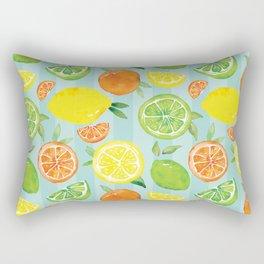 Zesty Citrus Pattern Rectangular Pillow