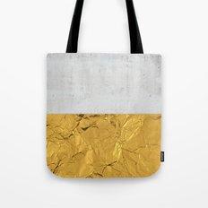 Gold Foil and Concrete Tote Bag