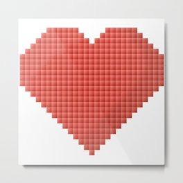 Pixelated heart design Metal Print